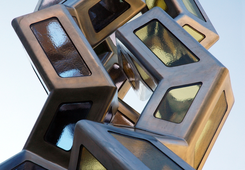 Synergy detail art science sculpture