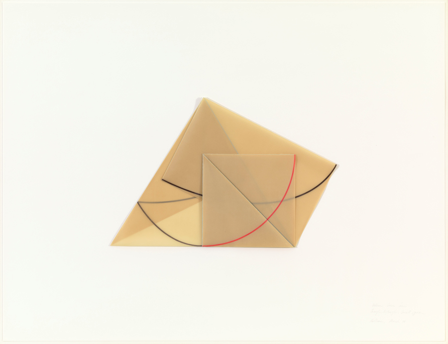 Triangle Rectangle Small Square Dorothea Rockburne